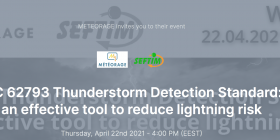 Webinar Météorage ; Lightning prevention and protection on Wednesday April 22th