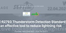Webinar Météorage ; Prevención y de la protección contra los rayos miércoles 22 de abril